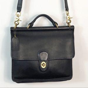 Vintage Coach Station Purse Shoulder Bag Black